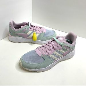 Adidas Sz 11 Crazychaos Pink Green White Shoes
